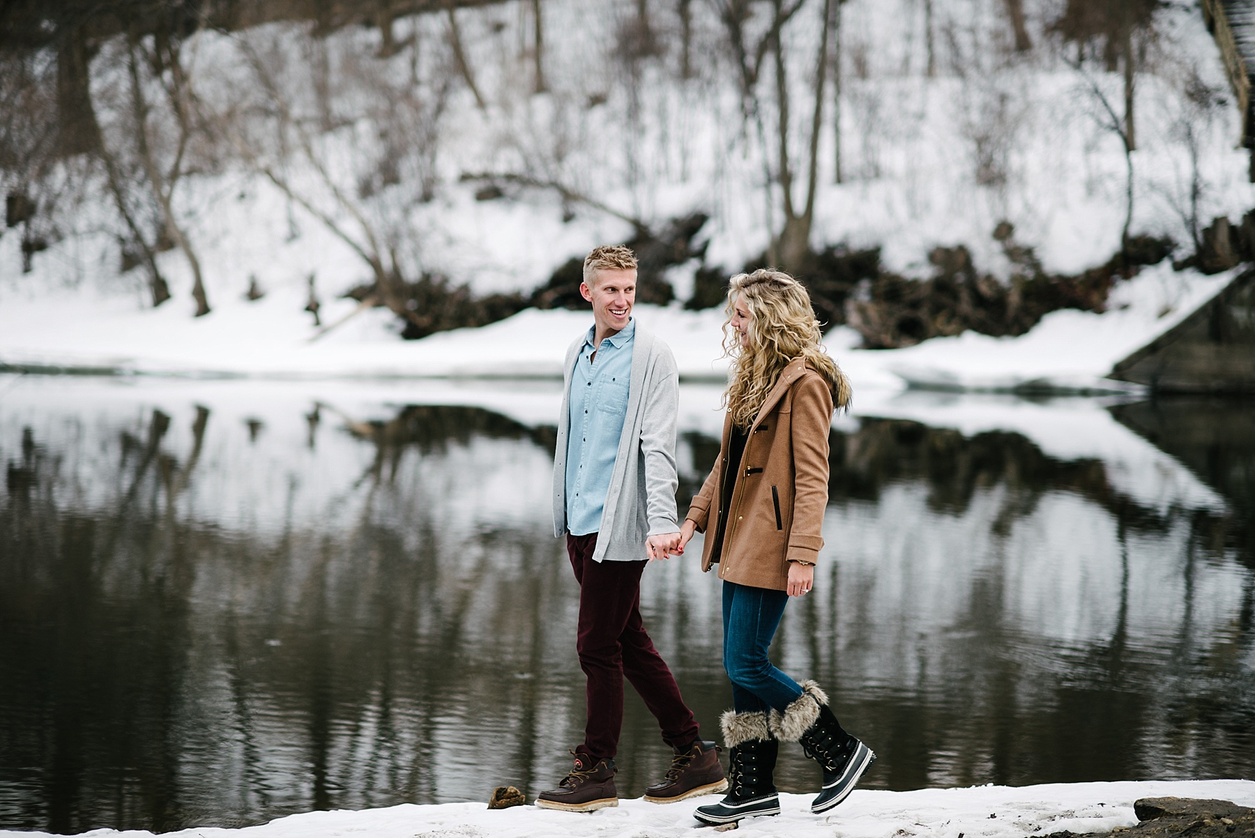 Boom Island Park Engagement Session Minneapolis MN