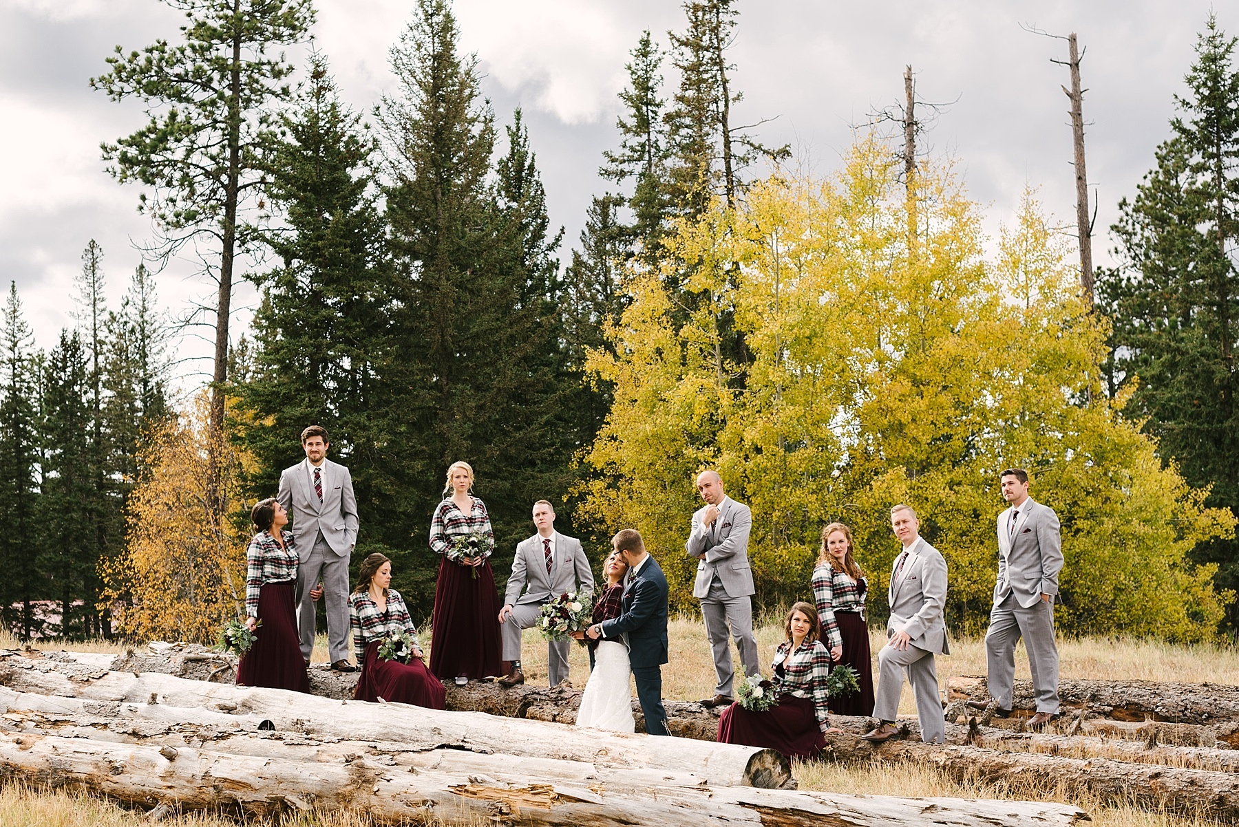 fall bridal party colors
